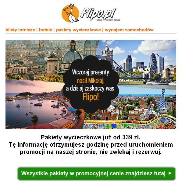 Pakiety Wycieczkowe od Flipo od 339 PLN.