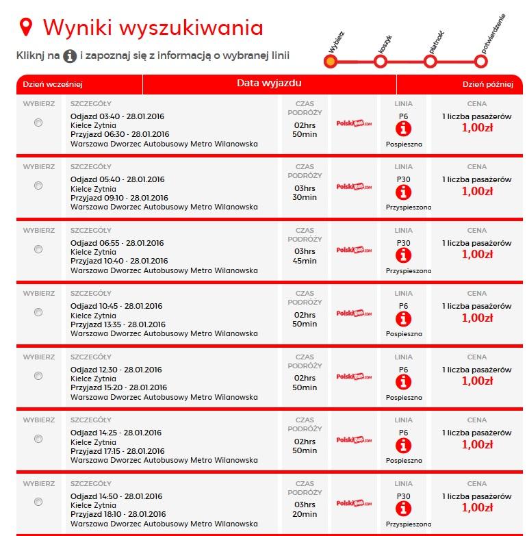 Polski bus za 1 zł