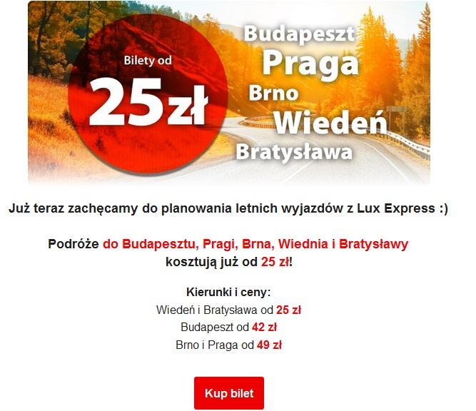 Tanie bilety do Budapesztu,Pragi,Brna, Wiednia, Bratysłąwy